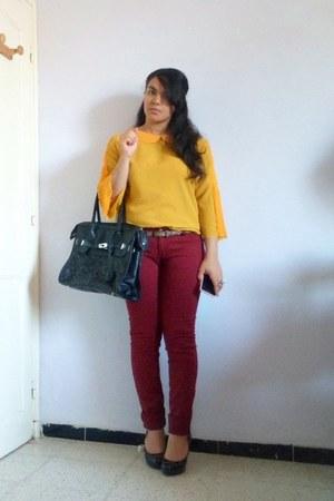 burgundy Revers jeans