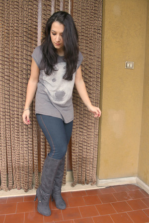 heather gray cotton Zara t-shirt
