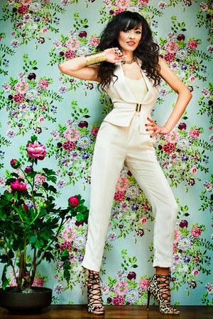 Elisabetta Franchi pants - Elisabetta Franchi vest - Zara heels