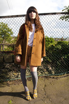 dark brown wool oversized thrifted vintage jacket