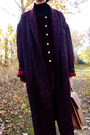 Black-doc-martens-thrifted-boots-maroon-dressing-gown-thrifted-coat