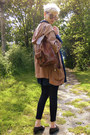 Salmon-parka-miss-selfridge-coat-navy-blazer-thrifted-jacket