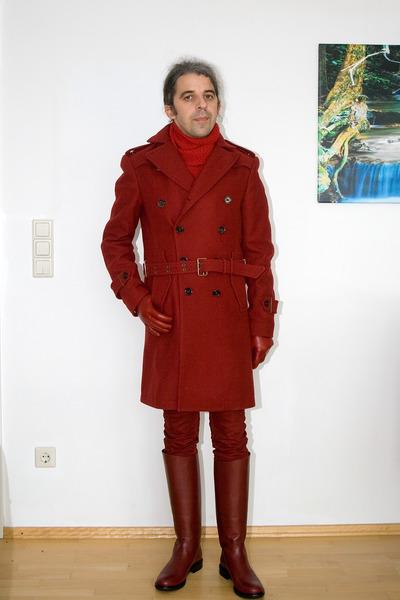 ruby red Zara coat