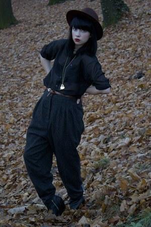 H&M blouse - asos belt - H&M pants