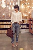 blue boyfriend H&M jeans