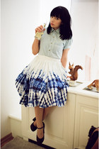 blue H&M Wateraid skirt - light blue denim American Apparel shirt