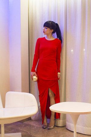 red H&M Trend dress