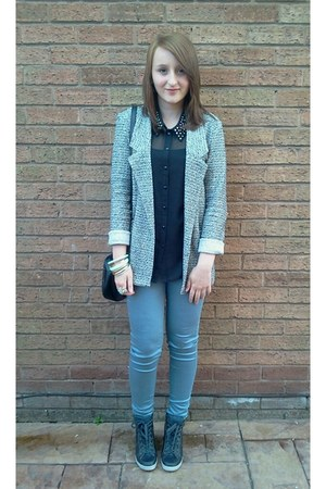 light blue Primark blazer