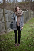 yellow blanket Zara scarf - gray tweed Jack by BB Dakota coat