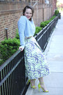 Sky-blue-waffle-knit-topshop-jumper-yellow-for-target-prabal-gurung-heels