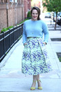 Sky-blue-waffle-knit-topshop-jumper-lime-green-asos-skirt