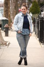 Periwinkle-denim-zara-jacket-black-embroidered-zara-boots