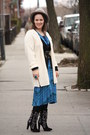 Black-embroidered-zara-boots-blue-jersey-printed-anthropologie-dress
