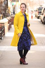 Maroon-lace-up-topshop-boots-navy-topshop-dress-yellow-wool-blend-jcrew-coat