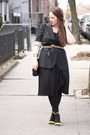 Black-jcrew-blazer-black-hue-tights-camel-animal-banana-republic-belt