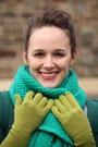 Green-bright-green-j-crew-scarf-heather-gray-boots-purple-asos-dress