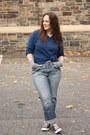 Periwinkle-boyfriend-jeans-navy-husbands-sweater