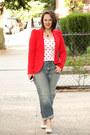 Periwinkle-boyfriend-jeans-red-zara-blazer-red-zara-shirt