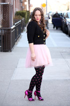 bubble gum polka dot HUE tights - light pink tulle Zara dress