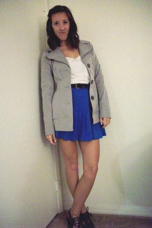 charcoal gray tie pumps coach heels - silver petty coat Candies jacket