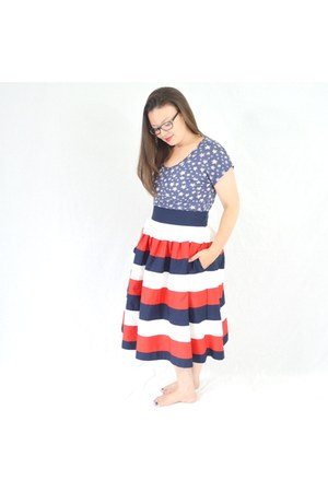 Old Navy top - eShakti skirt
