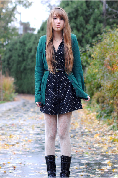 Dress and white tights