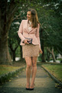 Neutral-sequins-zara-skirt-light-pink-silk-zara-jacket