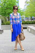 H&M dress - balenciaga bag - H&M blouse - Nine West pumps