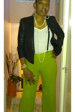 chartreuse Chanel pants
