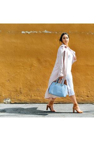 Michael Kors bag - bag - light blue bag - Forever 21 dress