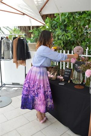 light purple Chicwish skirt - light pink Cremedelacruz shoes