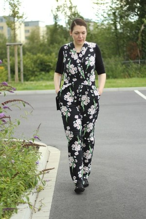 jumpsuir Long Tall Sally suit - furry Monki bag - Primark flats