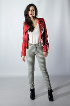 red leather Rosewholesale jacket