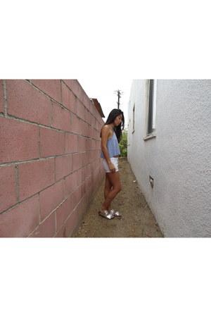 hollister top - hollister shorts - Target sandals - H&M necklace