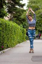 Zara top - Sheinside jeans