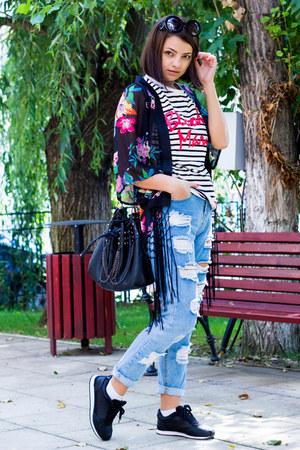 Choies blazer - dressv bag - Frontrowshop blouse