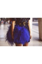 blue fluffy unbranded bag