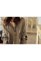 heather gray large sweater
