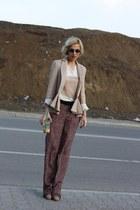 beige casual chic Pnk Casual blazer