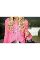 bubble gum crochet Bershka sweater