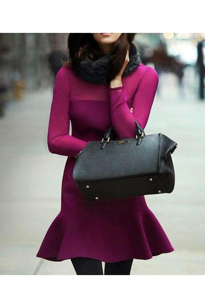 magenta color unknown dress