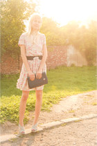 Zara wedges - open back Zara dress - vintage bag - Atmosphere top