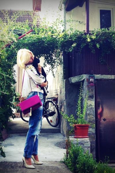 hot pink m H&M purse