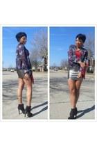 Forever 21 skirt - Forever 21 boots - H&M jacket