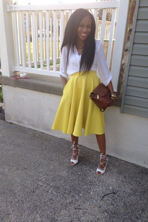 yellow asos skirt asos skirt