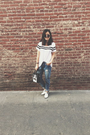 boyfriend jeans cotton on jeans - black and white Dailylook bag