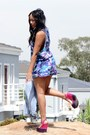 Tie-dye-romper-romper-denim-jacket-jacket-necklace-wedges