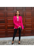 Zara blazer - leggings - Aldo heels