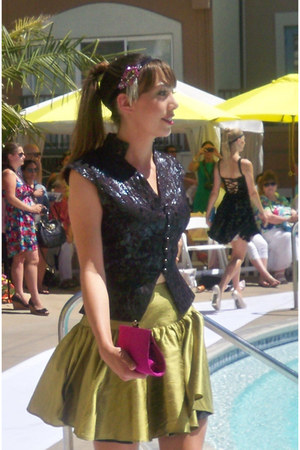 Anne Fontaine hair accessory - Anne Fountaine blouse - Anne Fountaine skirt