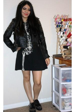 Camden shoes - iron fist dress - TOV jacket